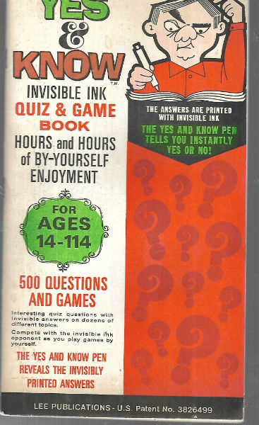 Image for Yes and Know: Invisible Ink Quiz & Game Book: 14-114