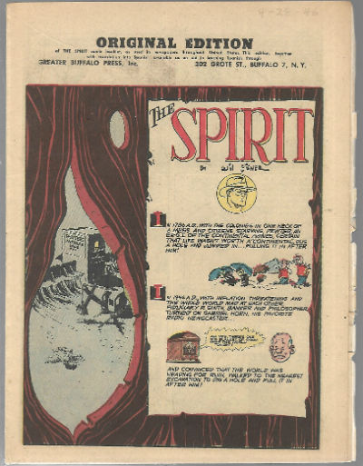 Image for The Spirit:Original dition,Greater Buffalo Press,Inc.april,28,1946