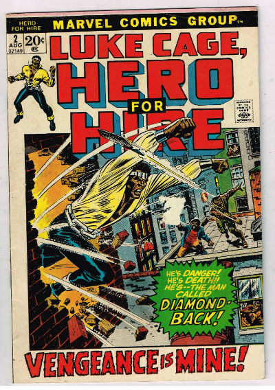 Image for LUKE CAGE, HERO FOR HIRE #2   1972|  VOLUME 1 |  MARVEL