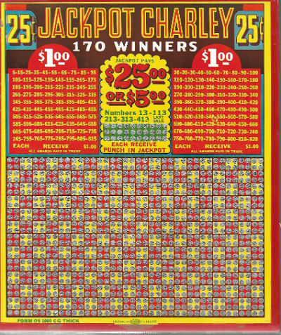 Image for Jackpot Charley Vintage Casino Gambling Game .25 Per Punch