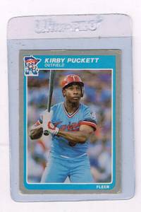 Image for 1985-Fleer-286-Kirby-Puckett-Rookie-Card-RC
