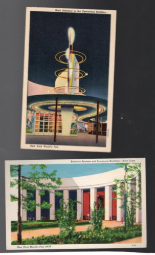 Image for New York's World Fair 1939;5 colorful postcards
