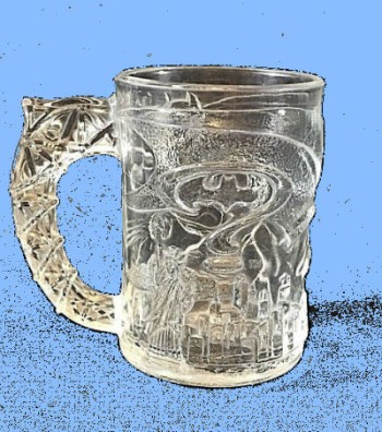 Image for McDonalds Batman Forever Glass Mug 1995 DC Comics Collectible Vintage