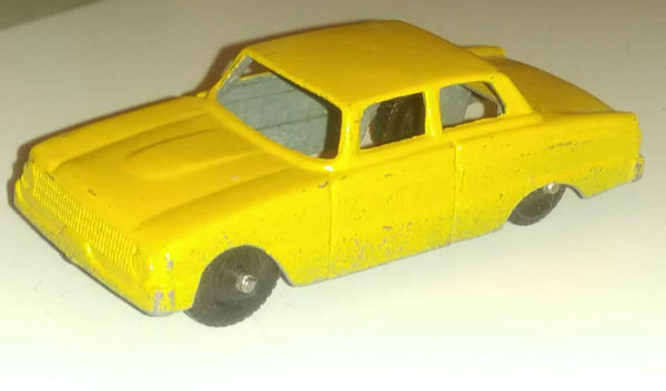 Image for TOOTSIETOY :1960 Ford Falcon Vintage  yellow/orange Metal Toy Car Chicago 24 Red Metal Toy Car