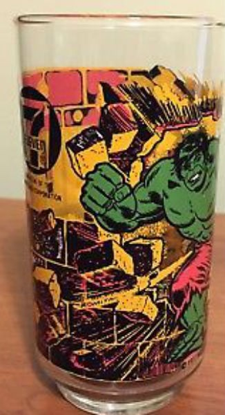 Image for 1977 Vintage 7-Eleven Marvel Incredible Hulk Promo Glass Rare Excellent Cond.