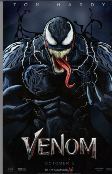 Image for Limited edition Venom Movie Poster MARVEL Tom Hardy New 2018 Spider-Man collectors Cinemark XD