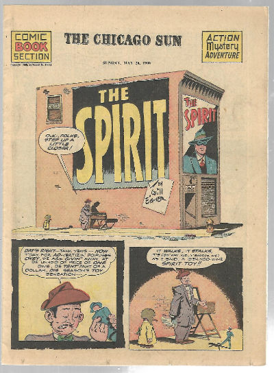 Image for The Spirit:Comic book section the Chicago Sun Sunday,May 26,1946