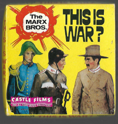 Image for THIS IS WAR, MARX BROTHERS, vintage CASTLE FILM #866, SUPER 8 B&W,