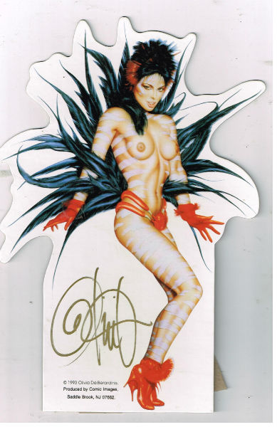 "Image for 8"" tall cardboard stand-up signed by Olivia"