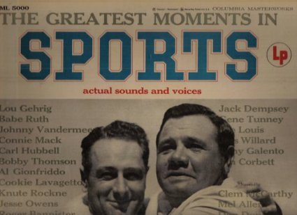 Image for the greatest moments in sports actual sounds and voices,LP