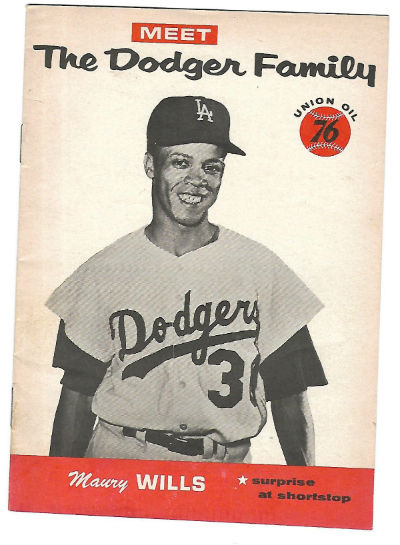Image for Dodgers Family booklets 1961 Union Oil 76, Maury Wills
