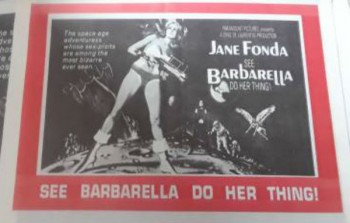 Image for Jane Fonda :See Barbarella do her thing, newsprint Flyer