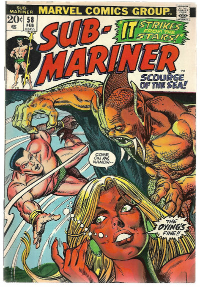 Image for SUB-MARINER #58   1968-1974 |  VOLUME 1 |  MARVEL