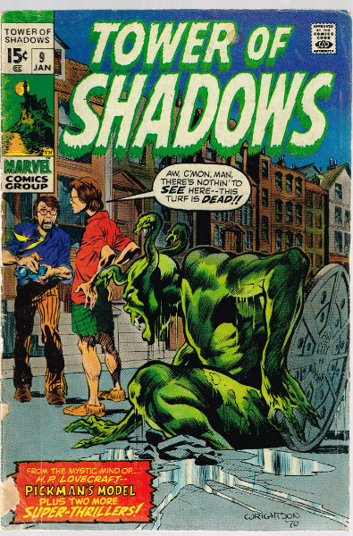 "Image for TOWER OF SHADOWS #9  the first story base on H.P. Lovecraft's""Pickman's model""   1969-1971 