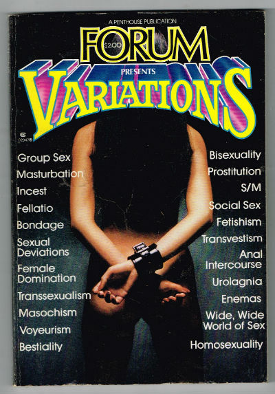 Image for Forum Presents Variations Adult Magazine 1977 (tv Guide Size) Unbound – 1977
