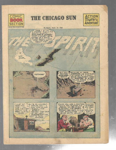 Image for The Spirit:Comic book section,Chicago Sun,May 19,1946