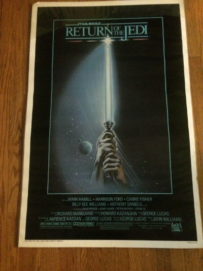 Image for Star Wars Return Of the Jedi Orignal Rolled One Sheet Style A 27X41 Estate