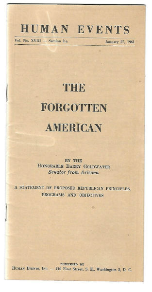 Image for The Forgotten American:Barry Golwater campaign pamphlet