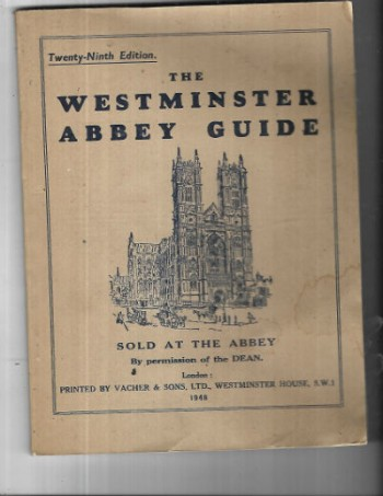 Image for The westminster abbey guide 29th edition 1948 london