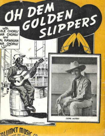 Image for Vintage 1935 Black Americana OH DEM GOLDEN SLIPPERS Gene Autry Sheet Music