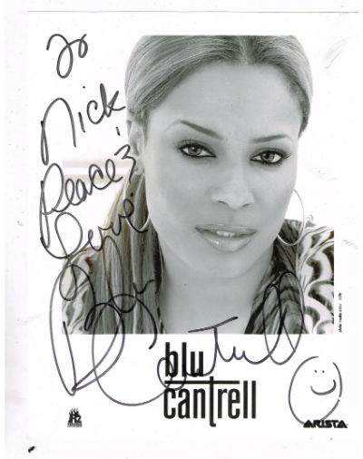 Image for Blu Chantrell 8x 10 B&W photo of the girl signed