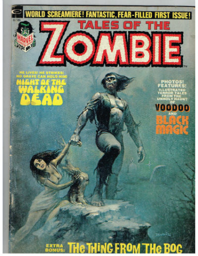 "Image for 1973 Marvel Monster Group ""Tales of the Zombie"" Comic Book Magazine #1"