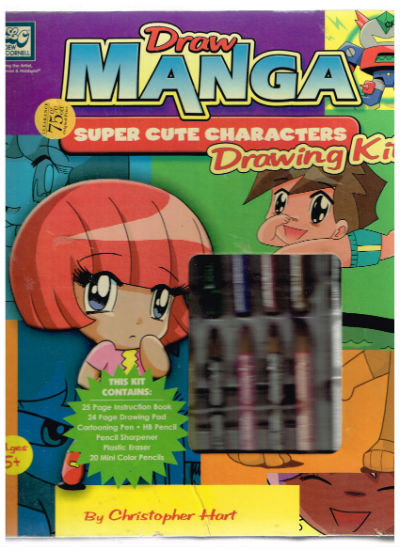 Image for Draw Manga Super Cute Characters Drawing Kit [With 24 Page Drawing PadWith 20 Mini Color Pencils, Hb Pencil, PenWith Plastic Eraser]    by Hart, Christopher    Publisher:Watson-Guptill Publications    Edition:Hardcover    Language:English