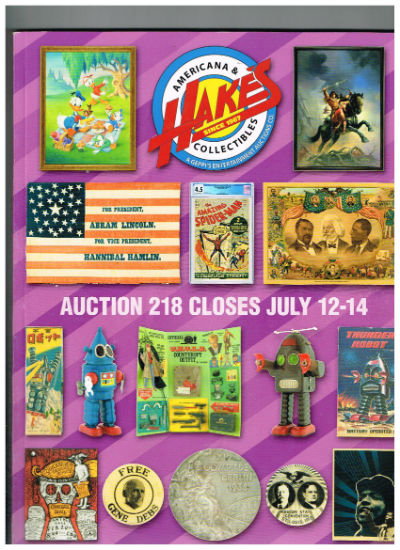 Image for Hakes Americana and collectibles catalog,July 2016