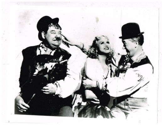 Image for Laurel and Hardy with Barbera Stanwick 8X10 B&W