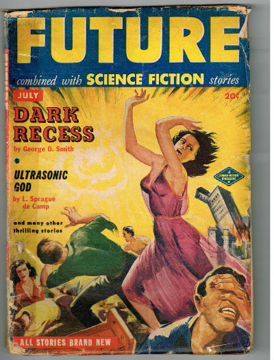 Image for Future combined with Science fiction stories,July,1951