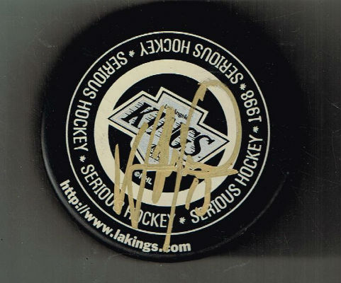 Image for LA Kings signed 1998 hockey puck.  Signed by one of the Kings ,I'm not quite sure by who