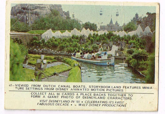 Image for 49 Viewed from the Dutch Canal Boats, Storybookland Features Miniature Settings from Disney Animated Motion Pictures