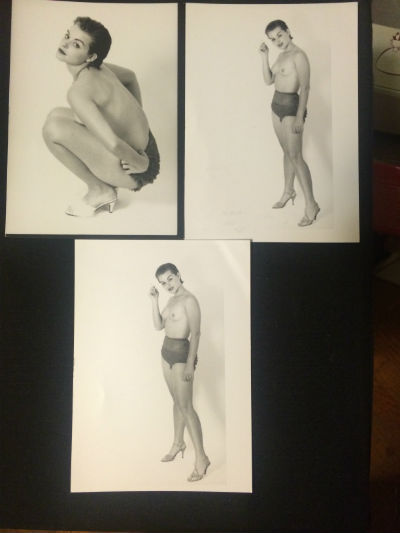 "Image for woman posing:3 B&W photos aprox.5""x7"""