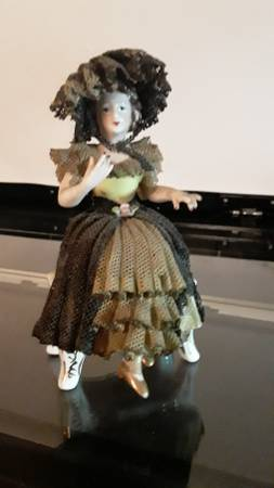 Image for Sitting porcelain doll,Made in occupied Japan
