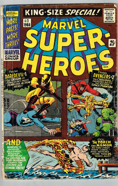 Image for MARVEL SUPER-HEROES #1   1966 |  ONE-SHOT |  MARVEL