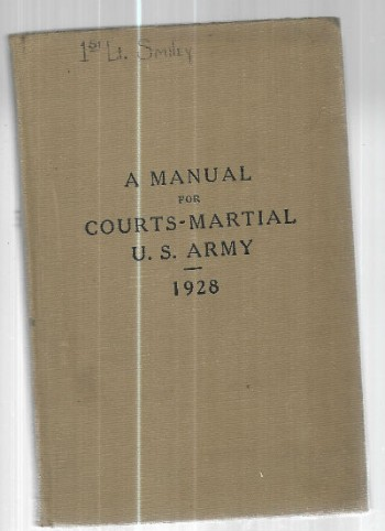Image for Manual for Courts Martial U.S. Army 1928