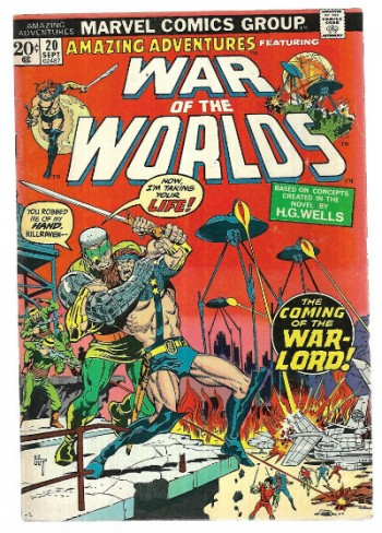 "Image for Amazing Adventures #20;featuring, ""War of the worlds"" and Killraven defender of Earth in cool boots."