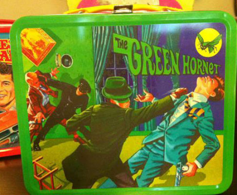 Image for Green Hornet & Kato Bruce Lee The Black Beauty Repro Tin Lunch Box With Thermos