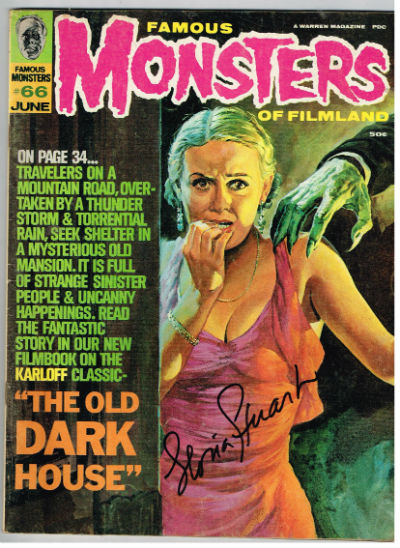 Image for Famous Monsters of Filmland #66,June,1970,signed by Gloria Stewart