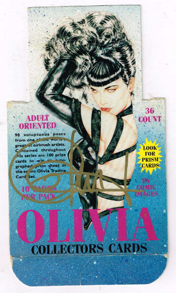 Image for Olivia:collectors cards box top signed by Olivia