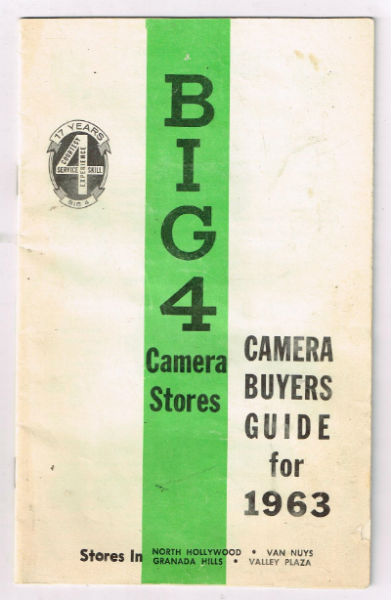 Image for Big 4 camera stores:Camera buyers guide for 1963