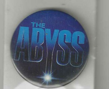 Image for THE ABYSS Pin button RARE promo James Cameron Aliens 1989 20th Century Fox
