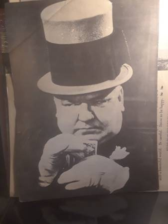 "Image for Vintage W.C.Fields print aprox.13"" X 10"""