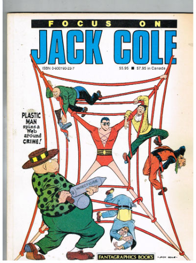 Image for Focus On Jack Cole 3/1986-1st Edition-Plastic Man-Midnight-Silver Streak-Claw-FINE