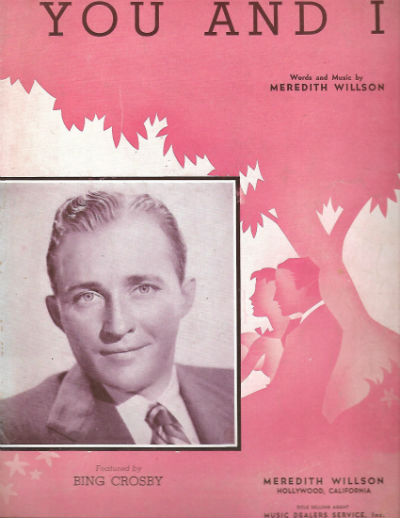 Image for 1941 YOU AND I THEME SONG OF MAXWELL HOUSE COFFEE TIME BING CROSBY SHEET MUSIC