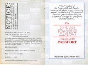 Image for The Star Wars Intergalactic Passport  Published by Ballantine Books, 1983  ISBN 10: 0345310535 / ISBN 13: 9780345310538