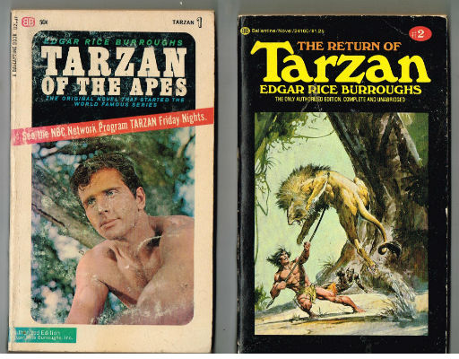 Image for 4 Tarzan books by Edgar Rice Burroughs,all 4 Ballantines,#1,2,14 and 19