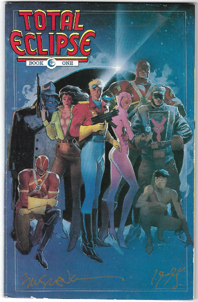 Image for TOTAL ECLIPSE #1   1988-1989 |  VOLUME 1 |  ECLIPSE  signed by 3 Marv Wolfman and 2 others