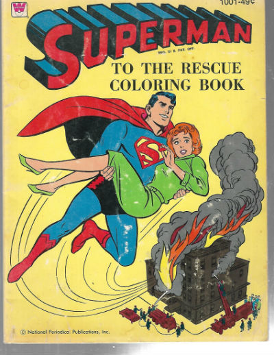1964 Superman to the Rescue Whitman Coloring Book