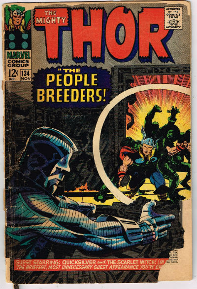 Image for THOR #134,Nov.,1966,Jack Kirby